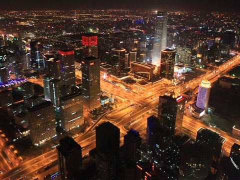 Beijing CBD Night Scene