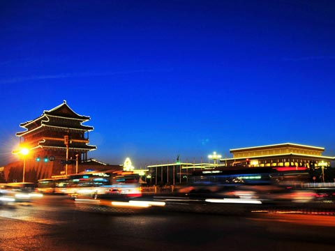 Beijing Tian'anmen Square Night Scene