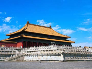 The Hall of Supreme Harmony, the Throne Hall in the Forbidden City