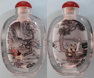 inner painting bottle