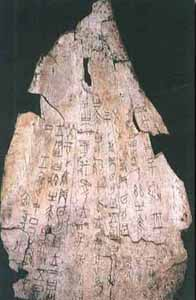 The oracle bone inscriptions