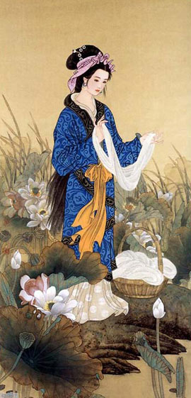 Chinese ancient beauty Xishi